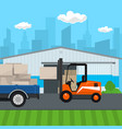 transportation services and storage vector image vector image