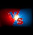 versus thanderstom sign vector image vector image