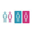 wc sign icon toilet restroom washroom symbol vector image