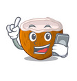 with phone character coconut of pieces in market vector image