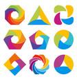abstract logo shape design vector image