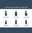 6 cleanser icons vector image vector image