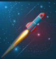 a rocket flying in space vector image vector image