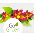Abstract flower design Go Green concept vector image