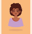 african american girl short hair portrait cartoon vector image vector image