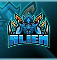 alien esport mascot logo design vector image