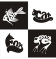 animals logo 2 vector image vector image