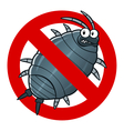 anti woodlouse sign vector image vector image