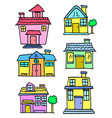 art of house style colorful vector image vector image