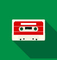 audio cassette icon flat style vector image