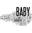 baby showers hats off to this fabulous idea text vector image vector image