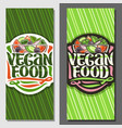 banners for vegan food vector image