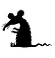 big rat stencil vector image