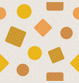 biscuitcraker and polka dot seamless pattern vector image vector image
