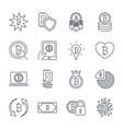 bitcoin different icons set for internet money vector image vector image