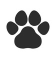 black cat and dog animal paw pet footprints ic vector image vector image