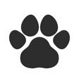 black cat and dog animal paw pet footprints ic vector image