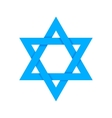 Blue star of David with shadow isolated on white vector image vector image