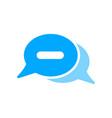 bubble chat message minimize minus icon vector image