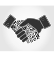 Business hand shake vector image vector image
