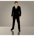 businessman or manager in suit vector image vector image