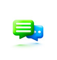 chat bubble talk dialogue messenger or online vector image vector image