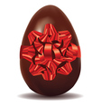 Chocolate Egg with Bow vector image vector image