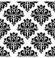 Classic black floral damask seamless pattern vector image