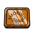 color vintage tobacco shop emblem vector image vector image