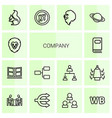company icons vector image vector image