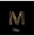 Curly textured Letter M vector image