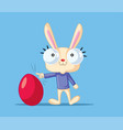 cute bunny with easter egg vector image