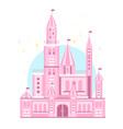 cute pink castle vector image vector image