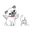 Cute Pug Dog vector image