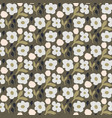 cutout style dense flower pattern seamless vector image vector image