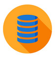 database business flat icon modern style vector image