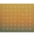 Digital thin line icons set vector image