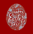 easter lettering card vector image vector image