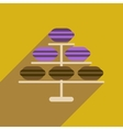 Flat web icon with long shadow macaroon vector image