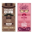 Gentlemen Ladies Special Events Banners Set vector image vector image