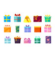 gifts boxes colored xmas valentine and other vector image vector image