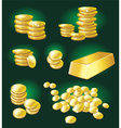 gold coin and bullion vector image