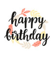 happy birthday greeting card design template vector image