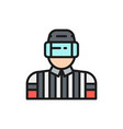 hockey judge referee arbiter flat color vector image vector image