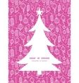 holiday lanterns line art christmas tree vector image