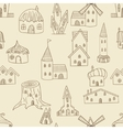House seamless retro vector image vector image