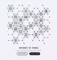 internet of things concept in honeycombs vector image