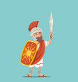 legionnaire sword shield warrior soldier greek vector image vector image