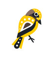 little colorful bird cartoon character vector image vector image
