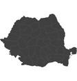 map of romania split into regions vector image vector image